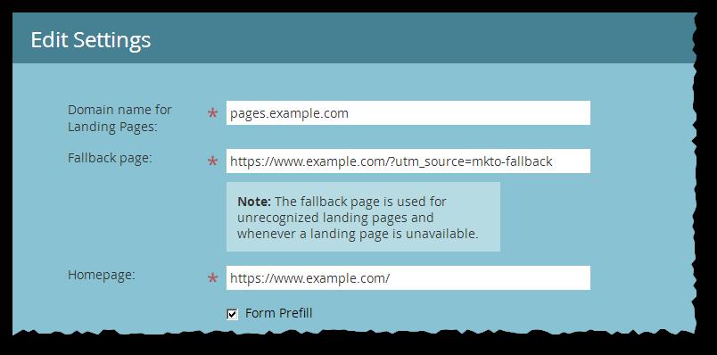 Screenshot of Admin » Landing Pages